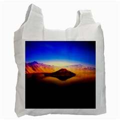 Crater Lake Oregon Mountains Recycle Bag (two Side)