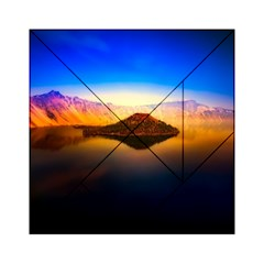 Crater Lake Oregon Mountains Acrylic Tangram Puzzle (6  X 6 ) by BangZart