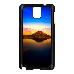 Crater Lake Oregon Mountains Samsung Galaxy Note 3 N9005 Case (black) by BangZart