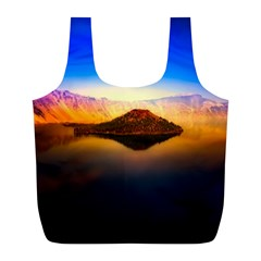 Crater Lake Oregon Mountains Full Print Recycle Bags (l)