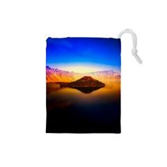 Crater Lake Oregon Mountains Drawstring Pouches (small)