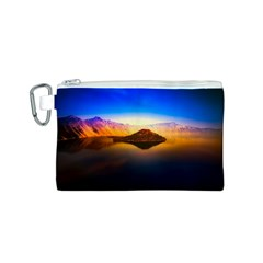 Crater Lake Oregon Mountains Canvas Cosmetic Bag (s)