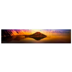 Crater Lake Oregon Mountains Small Flano Scarf