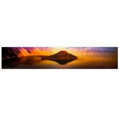 Crater Lake Oregon Mountains Large Flano Scarf  by BangZart