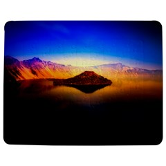 Crater Lake Oregon Mountains Jigsaw Puzzle Photo Stand (rectangular) by BangZart