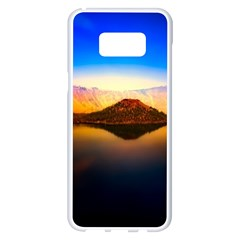 Crater Lake Oregon Mountains Samsung Galaxy S8 Plus White Seamless Case by BangZart