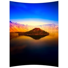 Crater Lake Oregon Mountains Back Support Cushion