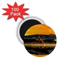 Bled Slovenia Sunrise Fog Mist 1 75  Magnets (100 Pack)  by BangZart