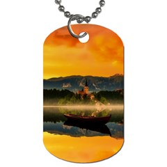Bled Slovenia Sunrise Fog Mist Dog Tag (two Sides) by BangZart
