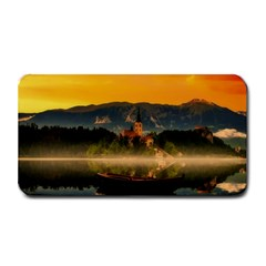 Bled Slovenia Sunrise Fog Mist Medium Bar Mats