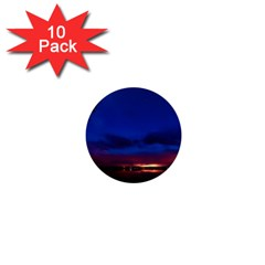 Canada Lake Night Evening Stars 1  Mini Buttons (10 Pack)  by BangZart