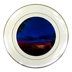 Canada Lake Night Evening Stars Porcelain Plates