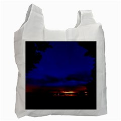 Canada Lake Night Evening Stars Recycle Bag (one Side)