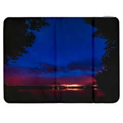 Canada Lake Night Evening Stars Samsung Galaxy Tab 7  P1000 Flip Case
