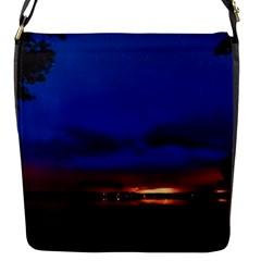 Canada Lake Night Evening Stars Flap Messenger Bag (s) by BangZart