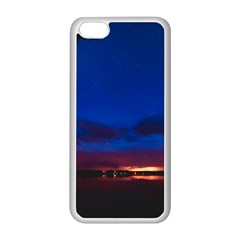 Canada Lake Night Evening Stars Apple Iphone 5c Seamless Case (white)