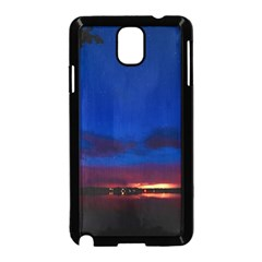 Canada Lake Night Evening Stars Samsung Galaxy Note 3 Neo Hardshell Case (black)