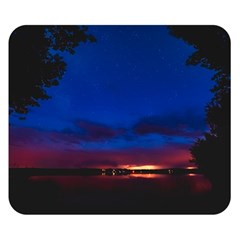 Canada Lake Night Evening Stars Double Sided Flano Blanket (small)  by BangZart