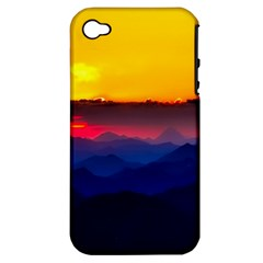 Austria Landscape Sky Clouds Apple Iphone 4/4s Hardshell Case (pc+silicone) by BangZart