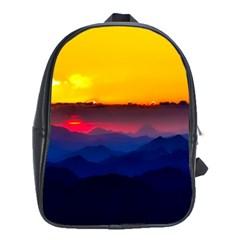 Austria Landscape Sky Clouds School Bag (xl)