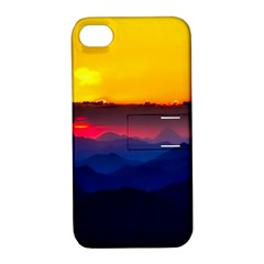 Austria Landscape Sky Clouds Apple Iphone 4/4s Hardshell Case With Stand