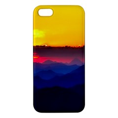 Austria Landscape Sky Clouds Apple Iphone 5 Premium Hardshell Case