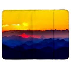 Austria Landscape Sky Clouds Samsung Galaxy Tab 7  P1000 Flip Case