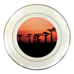 Baobabs Trees Silhouette Landscape Porcelain Plates by BangZart