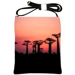Baobabs Trees Silhouette Landscape Shoulder Sling Bags