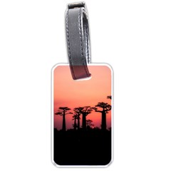 Baobabs Trees Silhouette Landscape Luggage Tags (one Side)