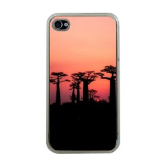 Baobabs Trees Silhouette Landscape Apple Iphone 4 Case (clear)