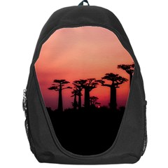 Baobabs Trees Silhouette Landscape Backpack Bag by BangZart