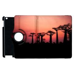 Baobabs Trees Silhouette Landscape Apple Ipad 2 Flip 360 Case