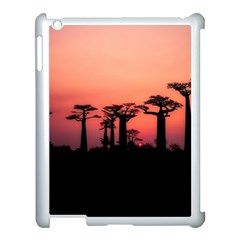 Baobabs Trees Silhouette Landscape Apple Ipad 3/4 Case (white)