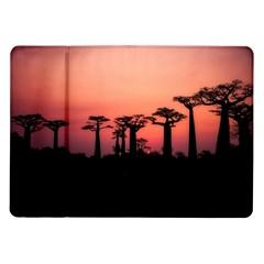 Baobabs Trees Silhouette Landscape Samsung Galaxy Tab 10 1  P7500 Flip Case