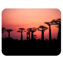 Baobabs Trees Silhouette Landscape Double Sided Flano Blanket (medium)