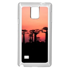 Baobabs Trees Silhouette Landscape Samsung Galaxy Note 4 Case (white)
