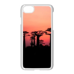 Baobabs Trees Silhouette Landscape Apple Iphone 7 Seamless Case (white)