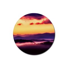 Great Smoky Mountains National Park Rubber Coaster (Round)