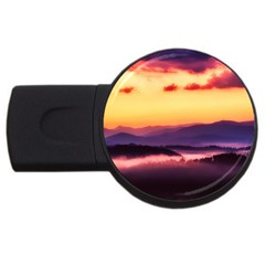 Great Smoky Mountains National Park Usb Flash Drive Round (4 Gb) by BangZart