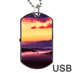 Great Smoky Mountains National Park Dog Tag Usb Flash (two Sides)