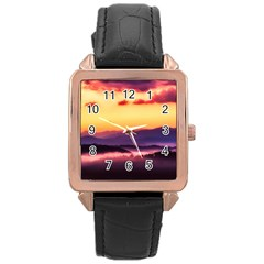 Great Smoky Mountains National Park Rose Gold Leather Watch