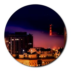 San Francisco Night Evening Lights Round Mousepads
