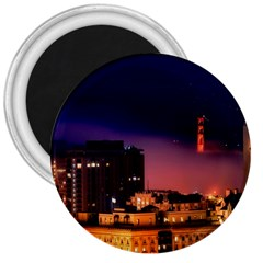 San Francisco Night Evening Lights 3  Magnets