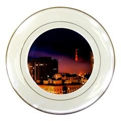 San Francisco Night Evening Lights Porcelain Plates