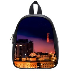 San Francisco Night Evening Lights School Bag (small)