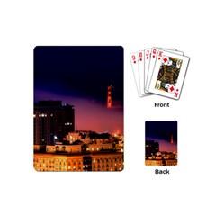 San Francisco Night Evening Lights Playing Cards (mini)