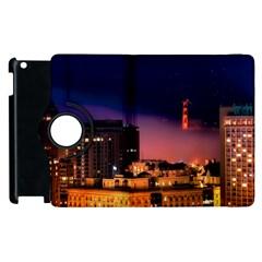 San Francisco Night Evening Lights Apple Ipad 2 Flip 360 Case