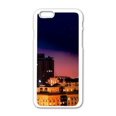 San Francisco Night Evening Lights Apple Iphone 6/6s White Enamel Case