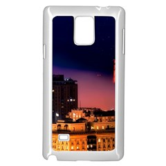 San Francisco Night Evening Lights Samsung Galaxy Note 4 Case (white)